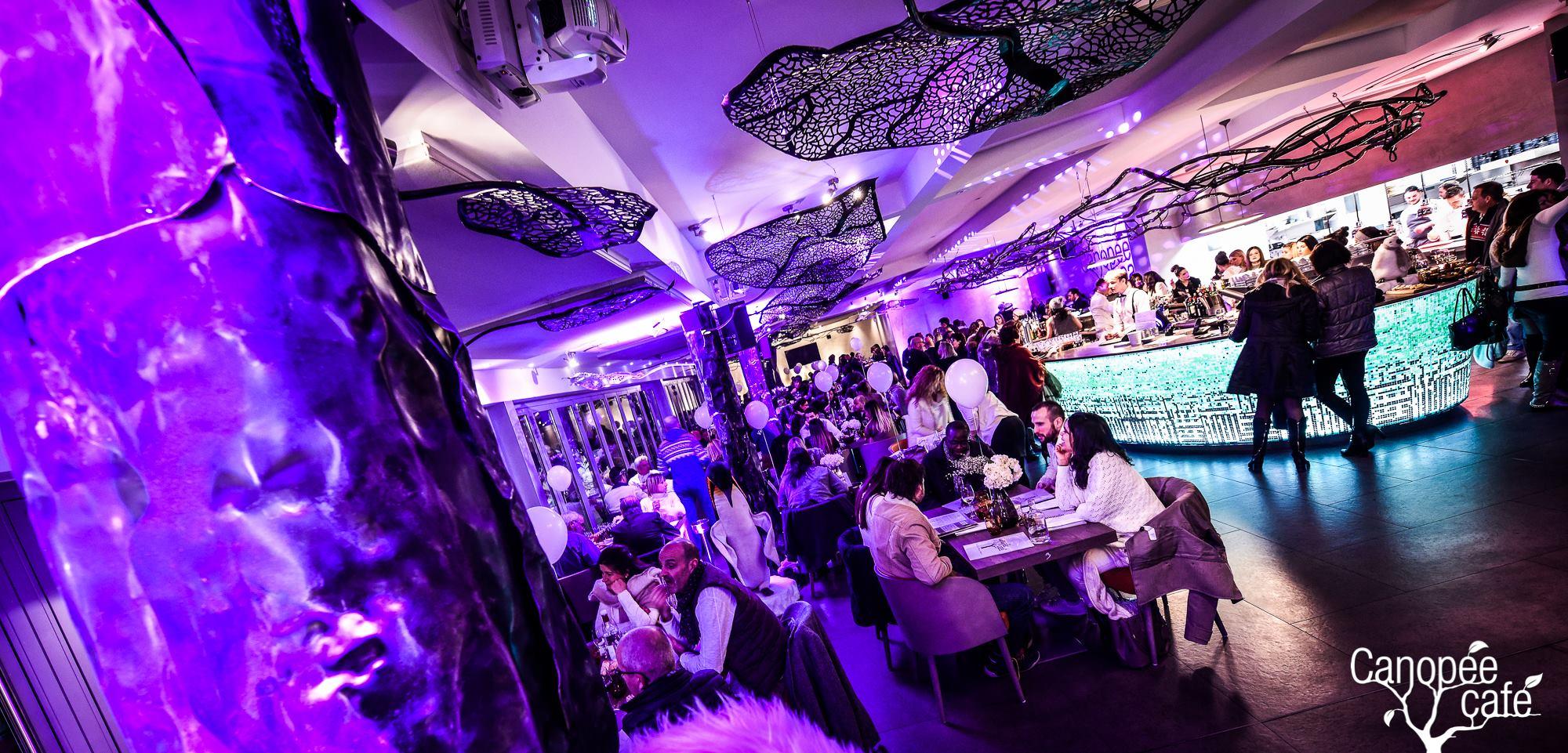 Salle et bar du Canopée Café